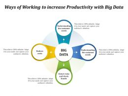 Ways Of Working To Increase Productivity With Big Data