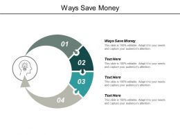 Ways Save Money Ppt Powerpoint Presentation Model Graphics Tutorials Cpb