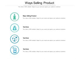 Ways Selling Product Ppt Powerpoint Presentation Gallery Designs Cpb