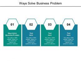 Ways Solve Business Problem Ppt Powerpoint Presentation Portfolio Icon Cpb