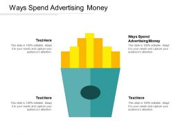 Ways Spend Advertising Money Ppt Powerpoint Presentation Slides Designs Download Cpb