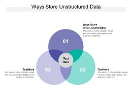 Ways Store Unstructured Data Ppt Powerpoint Presentation Inspiration Cpb