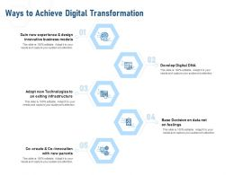 Ways To Achieve Digital Transformation Develop Digital Ppt Powerpoint Presentation Portfolio Example