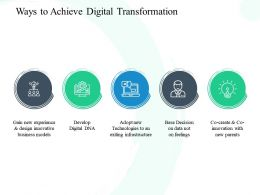 Ways To Achieve Digital Transformation Develop Ppt Powerpoint Presentation Show Portfolio