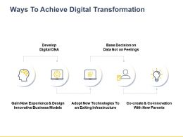 Ways To Achieve Digital Transformation Ppt Powerpoint Presentation File Slide Download