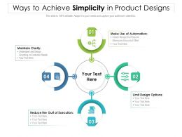 Ways To Achieve Simplicity In Product Designs