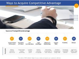 Ways To Acquire Competitive Advantage Cost Operations Ppt Presentation Visuals