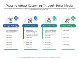 Ways To Attract Customers Through Social Media