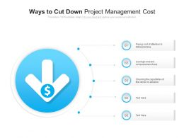 Ways To Cut Down Project Management Cost