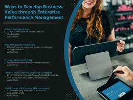 Ways To Develop Business Value Through Enterprise Performance Management