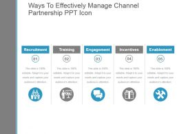Ways To Effectively Manage Channel Partnership Ppt Icon