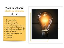 Ways To Enhance Electrical Business Of Firm