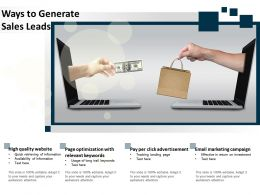 Ways To Generate Sales Leads