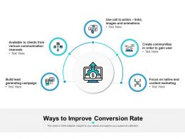 Ways To Improve Conversion Rate
