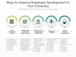 Ways To Improve Employee Development In Your Company