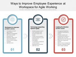 Ways To Improve Employee Experience At Workspace For Agile Working