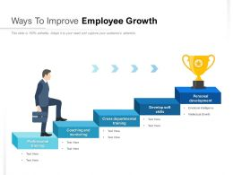 Ways To Improve Employee Growth
