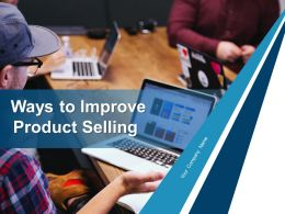 Ways To Improve Product Selling Powerpoint Presentation Slides