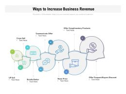 Ways To Increase Business Revenue