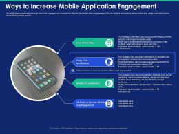 Ways To Increase Mobile Application Engagement Onboarding Powerpoint Presentation Format