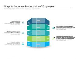 Ways To Increase Productivity Of Employee