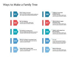 Ways To Make A Family Tree