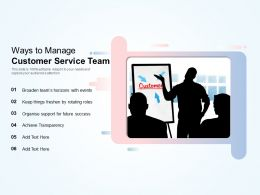 Ways To Manage Customer Service Team