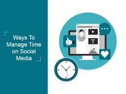 Ways To Manage Time On Social Media Powerpoint Slides