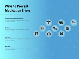 Ways To Prevent Medication Errors Ppt Powerpoint Presentation Outline Picture