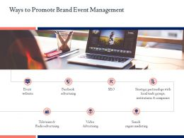 Ways To Promote Brand Event Management Ppt Powerpoint Ideas Graphics