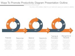 Ways To Promote Productivity Diagram Presentation Outline