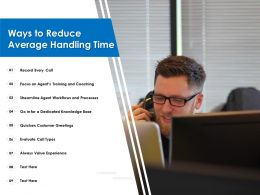 Ways To Reduce Average Handling Time