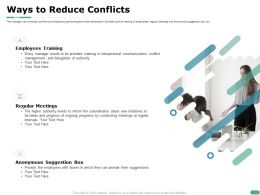Ways To Reduce Conflicts Suggestion Box Ppt Powerpoint Presentation Good