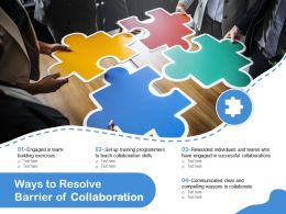 Ways To Resolve Barrier Of Collaboration