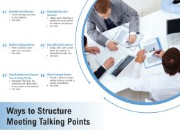 Ways To Structure Meeting Talking Points