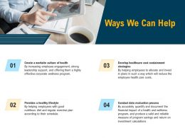 Ways We Can Help A Valid Ppt Powerpoint Presentation Infographic Template Good