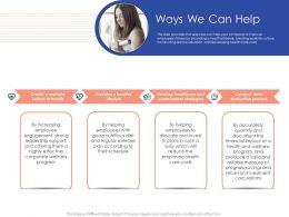 Ways We Can Help N432 Powerpoint Presentation Portrait