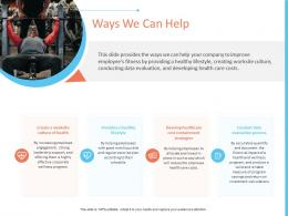 Ways We Can Help Office Fitness Ppt Themes