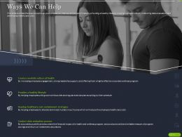 Ways We Can Help Ppt Powerpoint Presentation Gallery Example