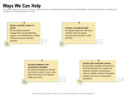Ways We Can Help Strong Leadership Program Ppt Powerpoint Presentation Summary Graphic Tips