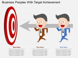 wb Business Peoples With Target Achievement Flat Powerpoint Design