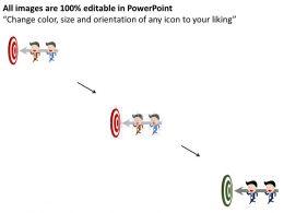 22636031 Style Circular Bulls-Eye 3 Piece Powerpoint Presentation Diagram Infographic Slide
