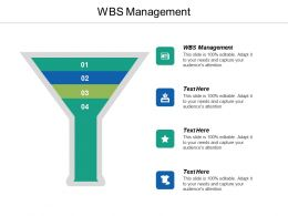 Wbs Management Ppt Powerpoint Presentation Model File Formats Cpb