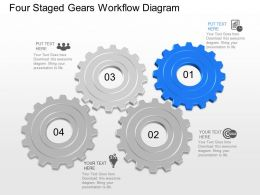 Wc Four Staged Gears Workflow Diagram Powerpoint Template
