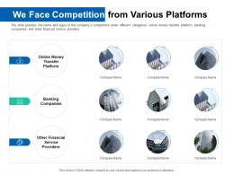 We Face Competition From Various Platforms Pitch Deck For ICO Funding Ppt Formats