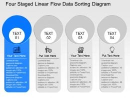 We Four Staged Linear Flow Data Sorting Diagram Powerpoint Template