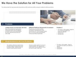 We Have The Solution For All Your Problems Exclusion Ppt Powerpoint Gallery Samples