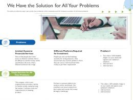 We Have The Solution For All Your Problems Raise Funds Initial Currency Offering Ppt Icon