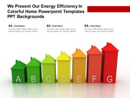 We Present Our Energy Efficiency In Colorful Home Powerpoint Templates Ppt Backgrounds