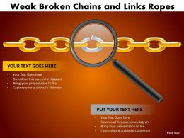weak broken chains and links ropes 11